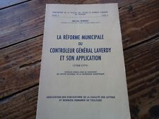 RARE - REFORME MUNICIPALE GENERAL LAVERDY SCIENCES HUMAINES - BORDES - 1968