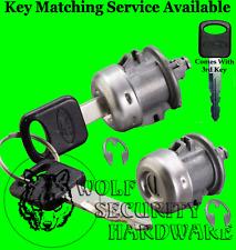 Ford Lincoln Door Key Lock Cylinder Tumbler Barrel Pair 3 Ford Logo Keys