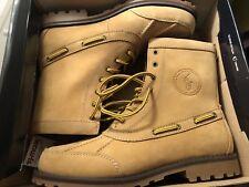 New Ralph Lauren Leather Beige Boots Sz 8.5 ( 8 1/2 ) D