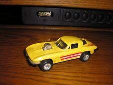 """Vintage Tootsie Toy 1/32 ? 5 1/4"""" C2 1963 Chevy Split Window Corvette Yellow"""