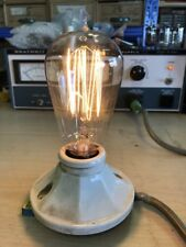 Antique Working Westinghouse MAZDA Hand Blown Squirrel Cage Filament Light Bulb