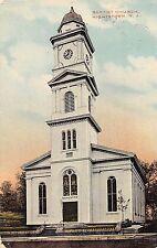 C14/ Hightstown New Jersey NJ Postcard c1910 Baptist Church Building