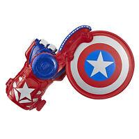 NERF Power Moves Marvel Avengers Captain America Shield Sling Disc-Launching Toy