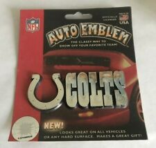 Indianapolis Colts, Auto Emblem | Adhesive Decal (Plastic, Chrome) FREE SHIPPING
