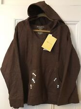 Sport Savvy SEPARATES 1X Hooded Pullover Top Hoodie 80% cotton 20% spandex QVC
