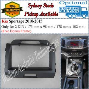 Fascia facia Kia Sportage 2010-2015 Double Two 2 DIN Dash Kit