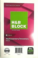 H & R BLOCK TAX SOFTWARE 2018 DELUXE Federal Homeowners/Investors
