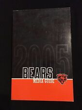 2005 CHICAGO BEARS MEDIA GUIDE- ORTON URLACHER JONES LOVIE SMITH SWEETNESS HALAS