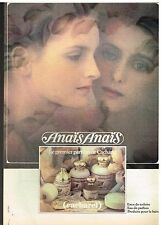 """Publicité Advertising 1981 Parfum """"Anais Anais"""" par cacharel"""