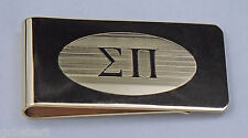 Sigma Pi, ΣΠ, Greek Letter Brass Money Clip By McCartney