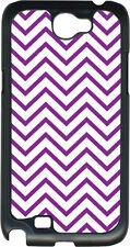 Purple Chevron Design on Samsung Galaxy Note II 2 Hard Case Cover