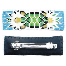 NEW HANDMADE BLUE GREEN TURTLE NATIVE STYLE HAIR BARRETTE FRENCH CLIP 34/4