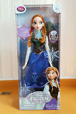 "Singing ANNA Doll Frozen 16"" Disney Store Exclusive ""For the First Time"" Lights"