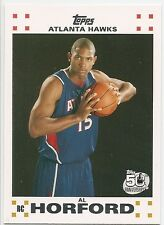 AL HORFORD 2007-08 Topps WHITE Rookie Set #3 ROOKIE CARD RC Atlanta HAWKS !