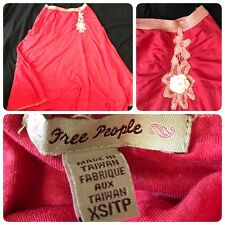 FREE PEOPLE women's Coral Skirt A Line Flare Size XS Cotton Hippie Lined Boho