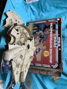 Vintage Star Wars MILLENIUM FALCON Kenner 1979 With Box Not Complete Needs Clean