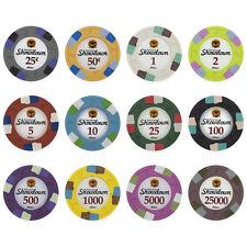 New Bulk Lot of 500 Showdown 13.5g Clay Poker Chips - Pick Denominations!