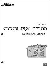Nikon CoolPix P7100  Digital Camera User Guide Instruction  Manual