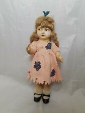 """Early Antique Lenci Type Doll 11"""" Tall 1940's"""