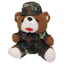 Osito de Peluche 28 CM Traje Gorro Camuflaje Oso Bundeswehr Animal Blandito