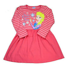 DISNEY FROZEN ELSA SNOW QUEEN LONG SLEEVE PINK DRESS Sizes 2-3yrs and 3-4yrs