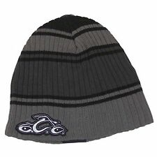 Orange County Choppers OCC Logo Grey Striped Ribbed Cap Beanie Headwear New!