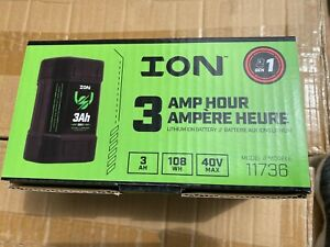 ION 11736 Gen1 Lithium Ion Battery 3ah 40v Max for Electric IceFishing Auger NEW