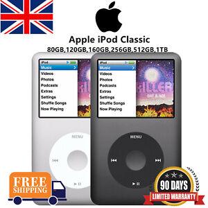 NEW Apple iPod Classic 7th Gen 120GB 160GB 512GB 1TB Black & Silver - WARRANTY