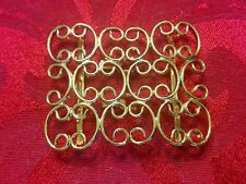 Vintage Retro Gold Tone Doily Curvy Duet Scarf Dress Clip Buckle Germany