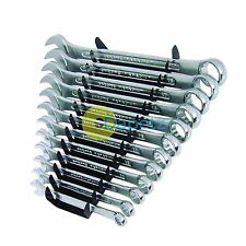 Professional 12Pc Metric Combination Spanner Set & Storage Rack