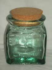 Antique Glass Apothecary Jar Candy Store Canister Green Tint with Air Bubbles