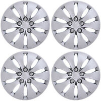 """4PC Fits 2008 2009 2011 2012 HONDA ACCORD 16"""" INCH SILVER HUBCAPS Wheel Covers"""
