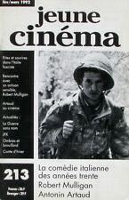 Jeune cinéma n°213- 1992 - La Comédie Italienne - Robert Mulligan - A Artaud