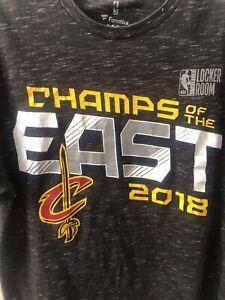 Fanatics NBA Cleveland Cavaliers Champs Of The East 2018 Locker Room Shirt MED