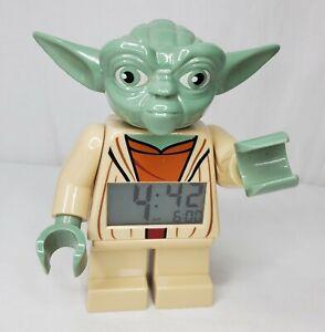 """Star Wars Lego Yoda Alarm Clock 2010 Digital Articulated Arms 7"""""""