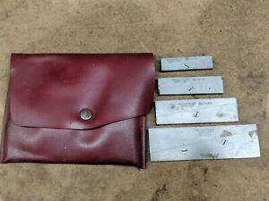 Lufkin rule co sliding parallel set 915a 915b 915c 915d in original pouch