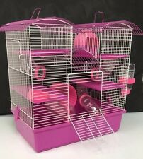 Abby large rose & violet de 3 étages cage hamster cage petits animaux cage 48 x 46 x 29 cm
