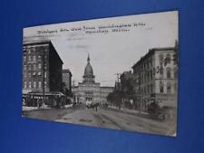 WYOMING MICHIGAN POSTCARD MICHIGAN AVENUE WEST FROM WASHINGTON AVENUE 1911