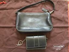 Coach Black Leather Pochette Purse And Wallet Set Gently Used Great Condition