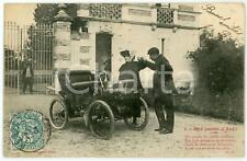 1900 ca FRANCE AUTOMOBILES Une partie d'auto - Comte et maîtresse - Postcard 1