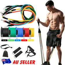 New listing 11PCS Resistance Band Set Yoga Pilates Abs Exercise Fitness Tube Workout Bands