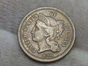 1868 3¢ Cent Nickel. #45