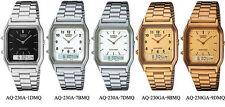 Casio watch Retro Dual time AQ230A/ AQ230GA choice of 5 styles UK seller