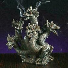 Hosley Elegant Expressions- 5 Headed Smoke Breathing Dragon Incense Burner