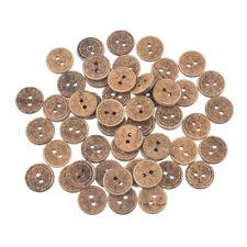 10 Holzknöpfe naturbelassen 15-20mm Jackenknopf Kleid Hose Hemd Woodbuttons