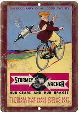 "Sturmey Archer Cycle Gears Vintage Ad 10"" x 7"" Reproduction Metal Sign B12"