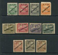 1922  OCCUPAZIONI FIUME  COSTITUENTE FIUMANA 11V. ++++++++