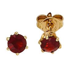 Echter Edelsteine-Ohrschmuck aus Gelbgold mit Granate für Damen