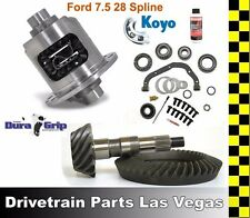 Yukon DuraGrip Ford 7.5 28 Spline Posi Limited Slip Pkg Gear Set 4.10 Master Kit