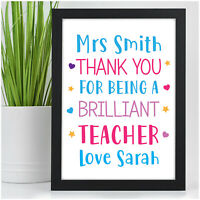 PERSONALISED Teacher Gifts for Teacher Assistant Childminder Nursery End Of Year